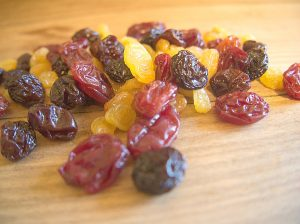 Le brownie aux raisins secs