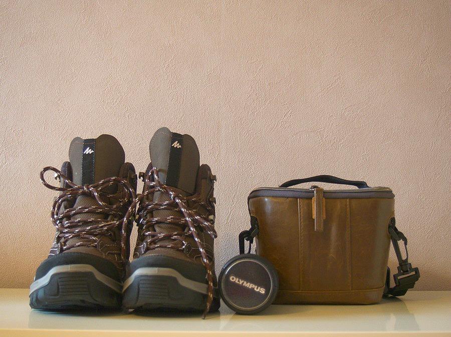 Chaussures de rando Queshua + housse HAMA