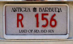 Plaques d'immariculation Antigua and Barbuda