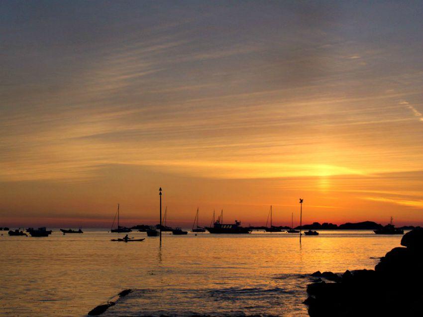 Coucher de soleil du port de Trebeurden