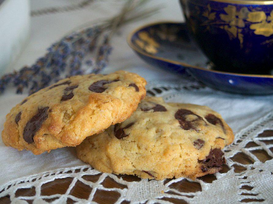 Cookies au chocolat et citron confit