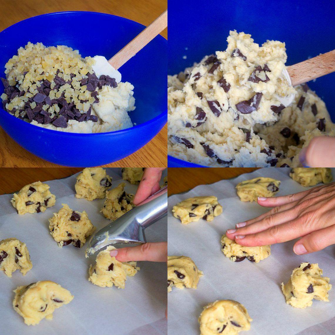 Recette cookies au chocolat et citron confit