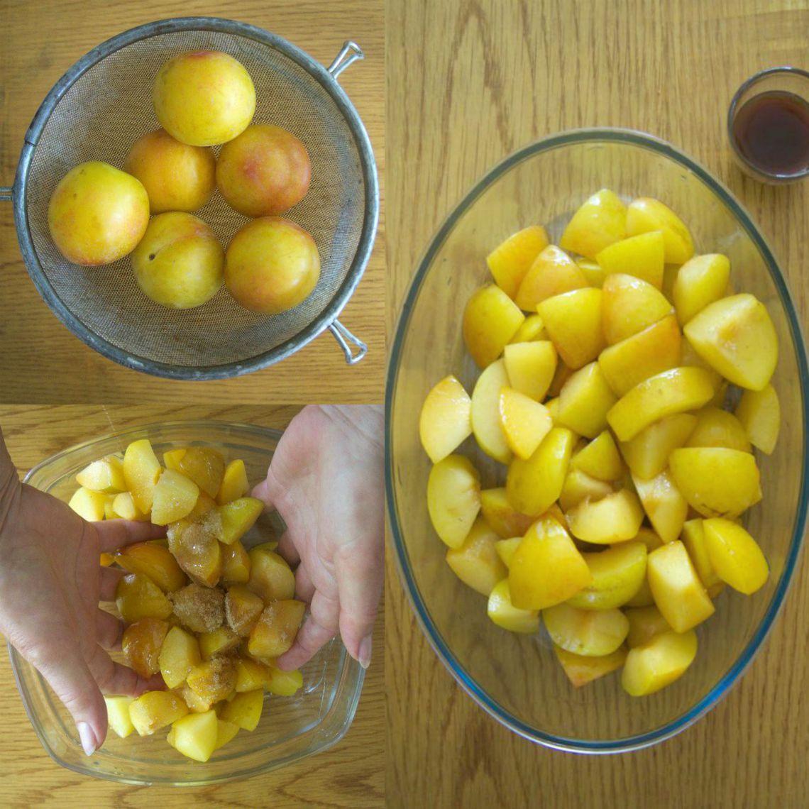 préparation des prune confites au porto