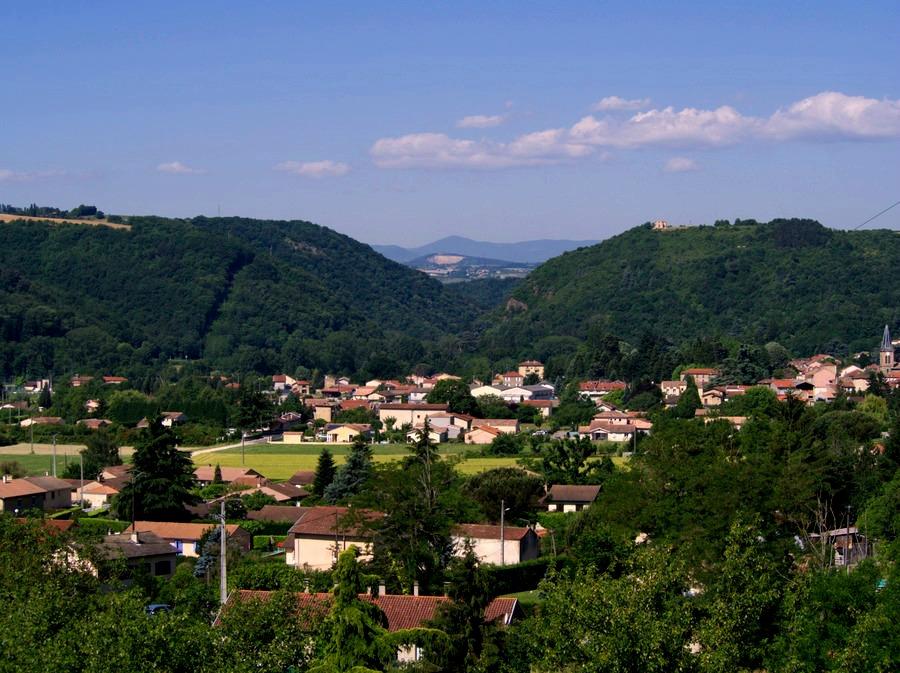 Ardèche depuis Saint Uze