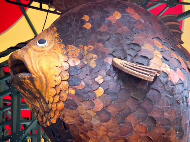 Poisson Du Caroussel Jules Verne De La Galerie Des Machines à Nantes