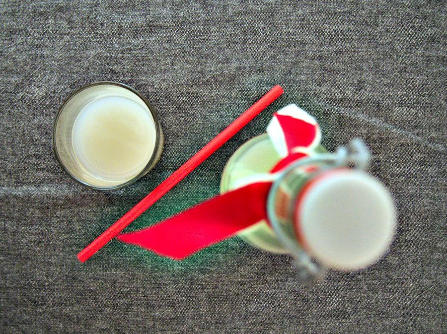 Lait de riz à la vanille et au sirop d'agave