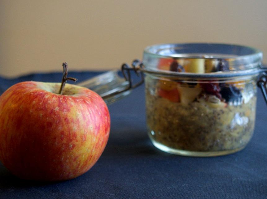 Pudding de chia et pommes