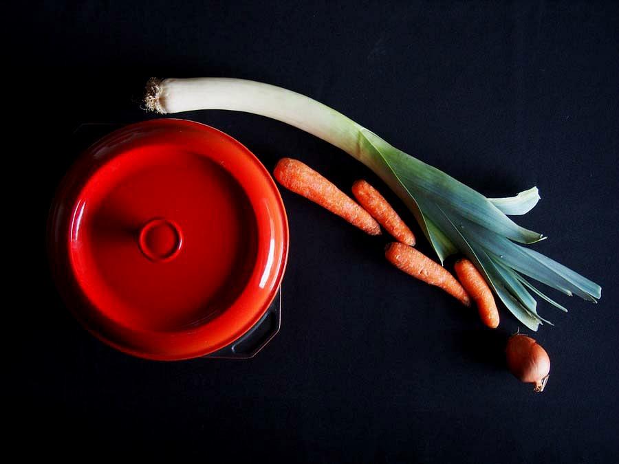Cocotte et légumes
