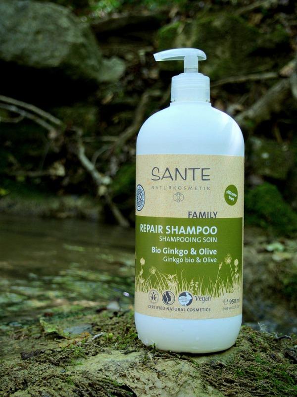 Shampooing soin cheveux sensibles Ginko BIO et Olive de Sante Naturcosmetik