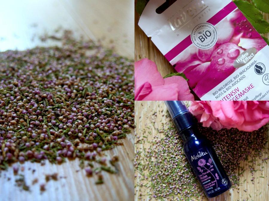Fleurs de Bruyère - Masques Lavera - Eau de rose Melvita