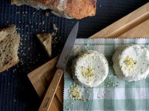 Petits fromages végétaux au chanvre