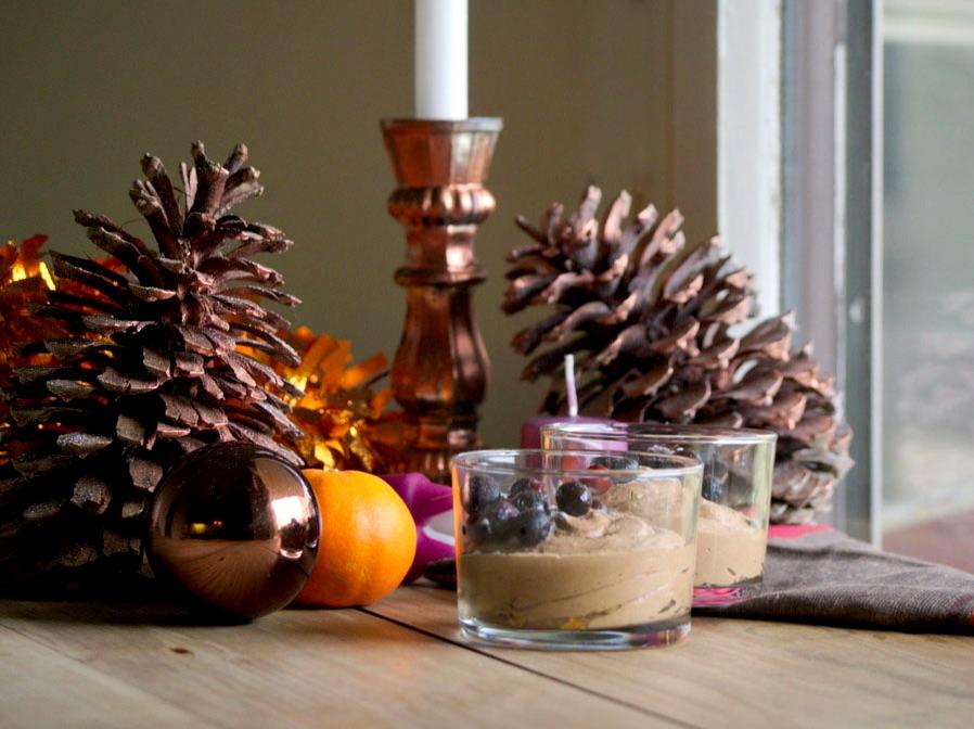 Mousse au chocolat Noel Vegan Caroube