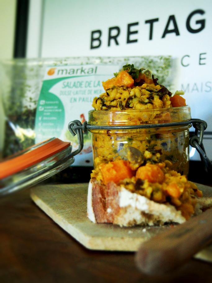 Pâté végétal automnal de Bretagne - Algues, potimarron, champignon